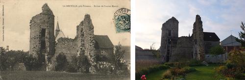 Le château fin XIXème et le château aujourd