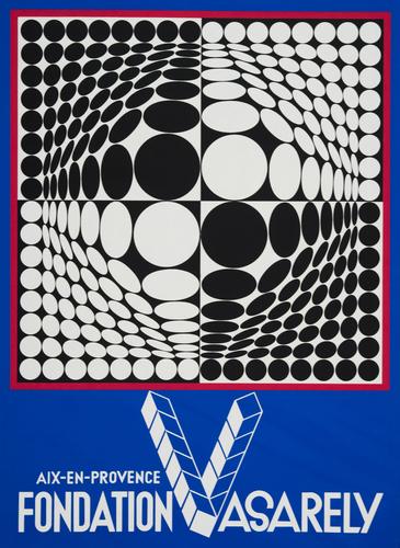 Première affiche pour la Fondation Vasarely d