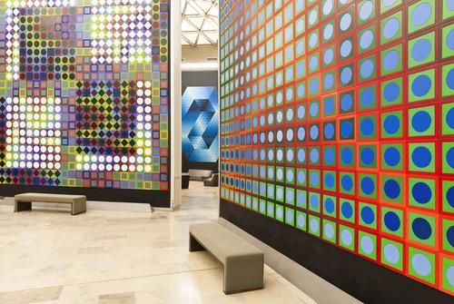 Vue intérieure de la Fondation Vasarely à Aix-en-Provence
