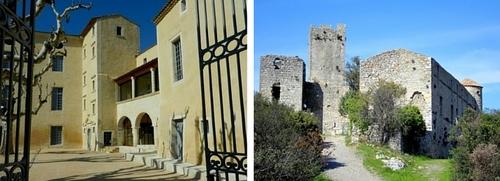 Châteaux de Saze et de Tornac