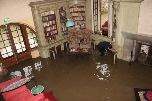salon inondé
