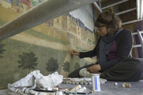 La restauration de la représentation du château de Gizeux