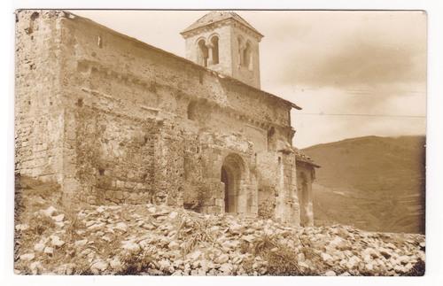 Etat de la chapelle en 1950, telle que la découvre l'abbé Piquemal