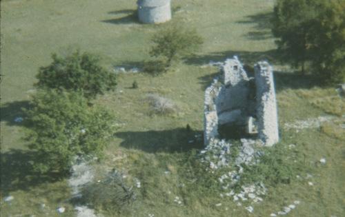 Le moulin en ruine au début des années 1970