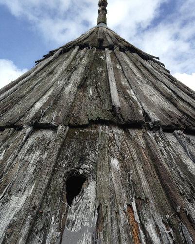 La toiture du moulin aujourd'hui