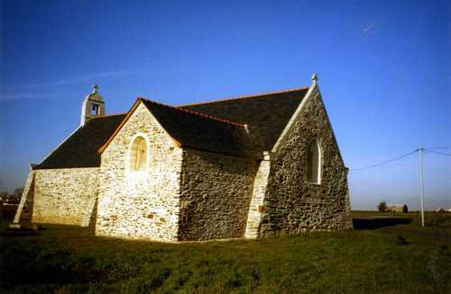 La sacristie reconstruite.