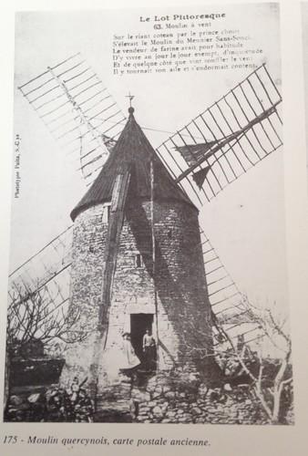 Carte postale XIX° siecle Moulin à Vent en activité  LOT Quercy