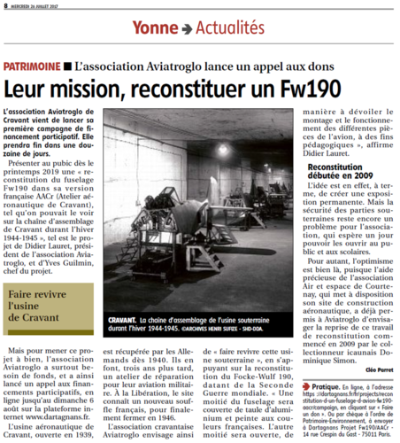 Article YR - Appel aux dons