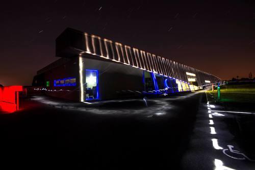 Le Musée Archéologique de l'Oise vu la nuit
