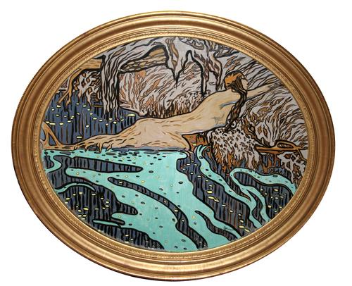 La légende de la rivière, oil on canvas, 1921