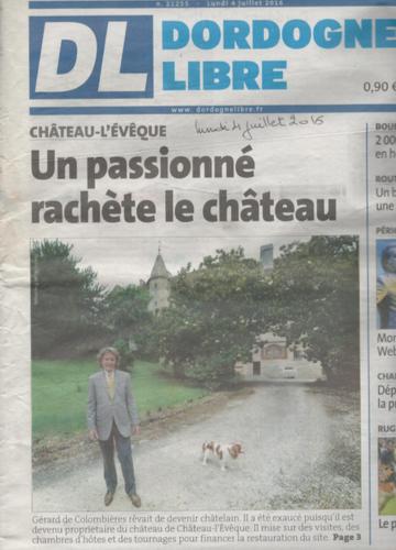 Article La Dordogne Libre - Lundi 6 juillet 2016