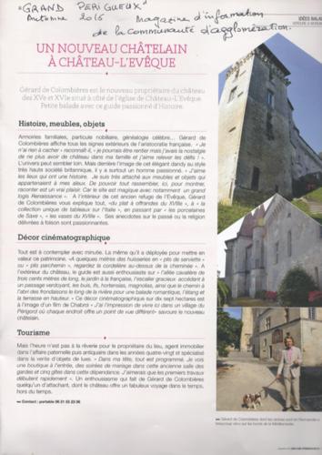Article Grand Périgueux - Automne 2016
