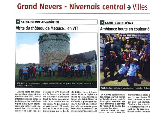 Le Chateau de Meauce reçoit le team de collégiens