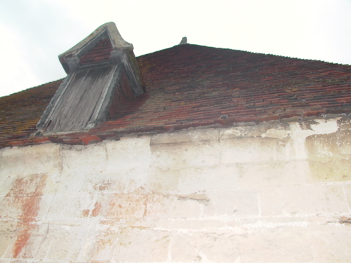 The damaged roof of the Dungeon