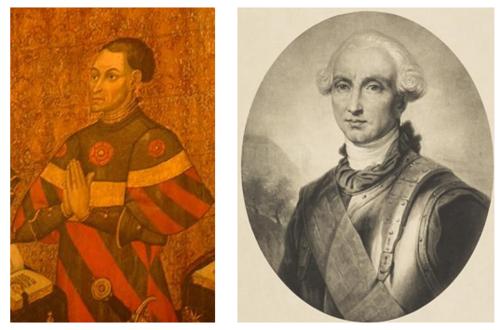 Jean II Juvénal des Ursins à gauche, Louis de Conflans d'Armentières à droite