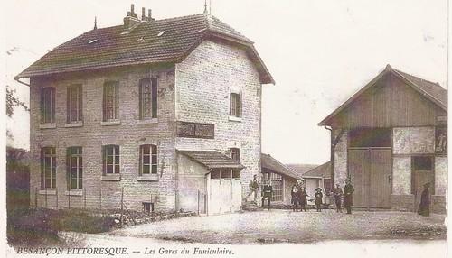 La gare haute, au début des années 1920