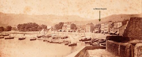 Photo du bord de mer à Banyuls vers 1880