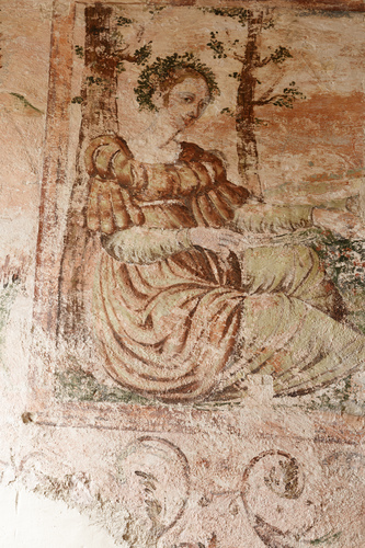 Figure féminine - Fresque RDC Donjon - XVIe siècle