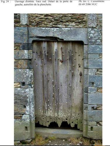 Door of the former gatehouse that will serve as a model