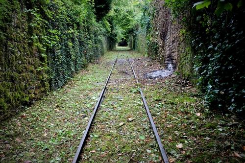 La voie ferrée du Funiculaire, longue de 423 mètres © Matthieu Neitthoffer