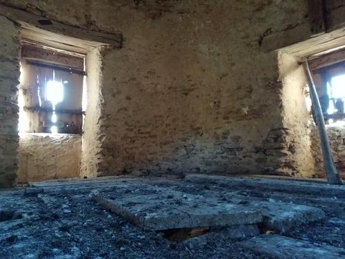 Les planchers et huisseries du 2nd étage