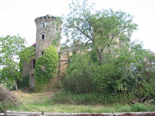 Château de Pagax : la végétation envahissante