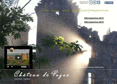 Web Château de Pagax