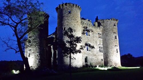 Château de Pagax illuminé