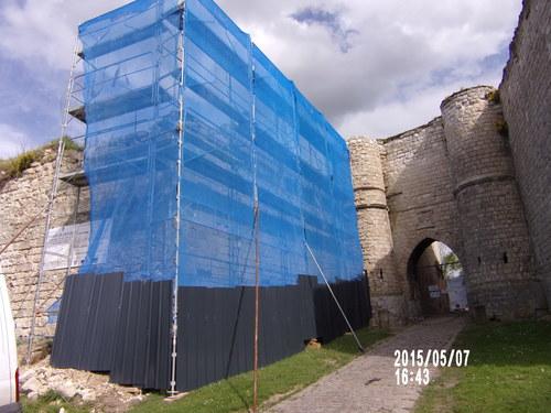 Restauration par entreprise d'un angle de bastion