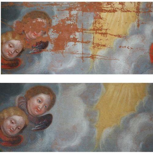 RESTAURATION DU TABLEAU  « LE VŒU DE SAINT LOUIS »  - EGLISE NOTRE DAME DE L'ASSOMPTION -  - Montgesty – 46 –