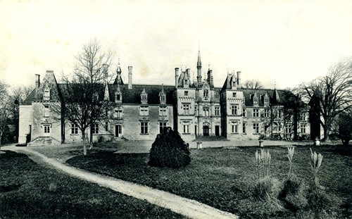 Château de La Villaumaire, façade «sud» en 1910.
