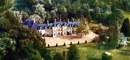 Vue aérienne de La Villaumaire en 1950