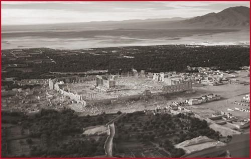 Vue aérienne du site de Palmyre, Syrie