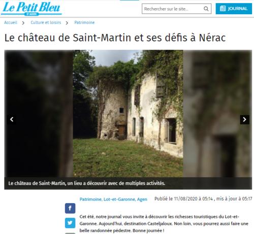 Article Petit Bleue St-Martin