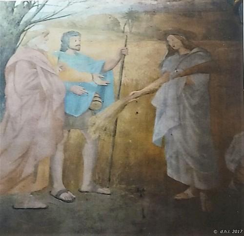 Fresque 1 - Ruth allant glaner dans le champ de Boaz