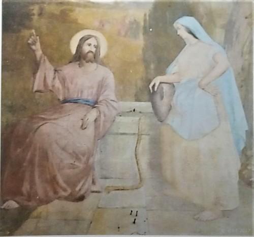 Fresque 2 : Jésus et la samaritaine au puits de Jacob