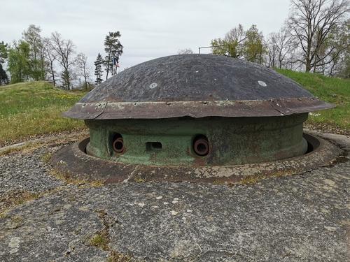 La tourelle à double canons de 75mn